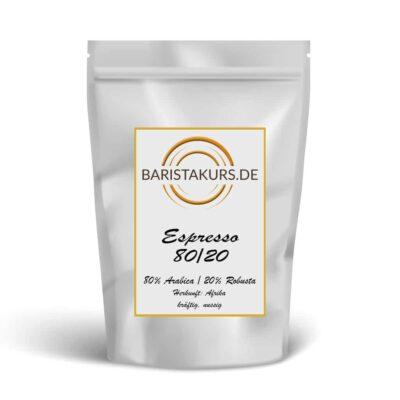Der Espresso 80/20 - der Liebling unserer Kunden